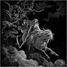 Wall Sticker  Death on a Pale Horse - Gustave Doré