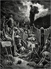 Gallery print  The Vision of the Valley of the dry Bones - Gustave Doré