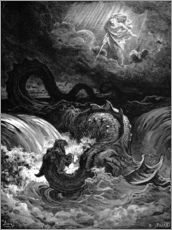 Wall sticker  Marduk slaying Tiamat - Gustave Doré