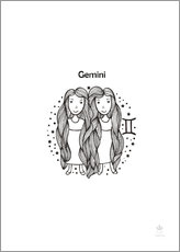 Wall sticker  Zodiac Gemini - Girl - Petit Griffin