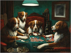 Gallery print  The poker game - Cassius Marcellus Coolidge