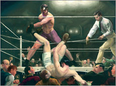 Wall sticker  Dempsey and Firpo - George Wesley Bellows