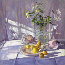 Gallery print  Still Life Flowers and Lemons - Timothy Easton