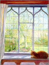 Wall sticker  Cat in window in spring - Timothy Easton