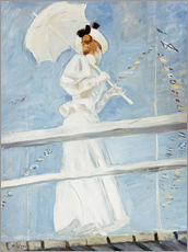 Gallery Print  Young woman with umbrella at the pier - Paul Cesar Francois Helleu