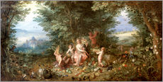 Gallery print  Allegory of the Earth - Jan Brueghel d.Ä.