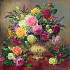 Gallery Print  Roses from a Victorian Garden - Albert Williams