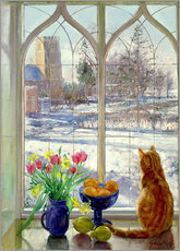 Gallery Print  Snow Shadows and Cat - Timothy Easton