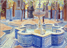 Gallery print  The blue fountain - Lucy Willis