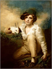Wall sticker  Boy and Rabbit - Henry Raeburn