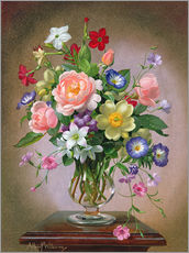 Wall Stickers  Roses, Peonies and Freesias - Albert Williams