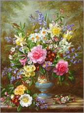 Wall sticker  Bluebells, daffodils, primroses and peonies - Albert Williams