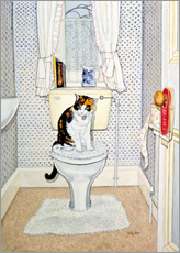Gallery print  Cat on the Loo - Ditz