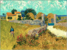 Premium poster  Farmhouse in the Provence - Vincent van Gogh