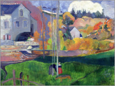 Premium poster  Brittany Landscape: the David Mill - Paul Gauguin