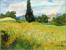 Premium poster  Landscape with Green Corn - Vincent van Gogh