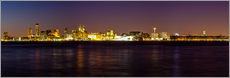Wall sticker  Liverpool skyline at night Panorama - Thomas Hagenau