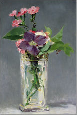 Gallery print  Pinks and Clematis in a Crystal Vase - Edouard Manet