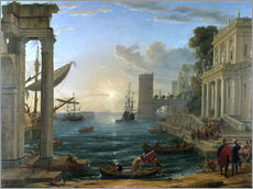 Gallery print  Seaport with the Embarkation of the Queen of Sheba - Claude Lorrain
