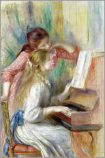 Gallery print  Young Girls at the Piano - Pierre-Auguste Renoir