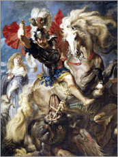 Acrylic print  St. George and the Dragon - Peter Paul Rubens