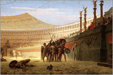 Wall sticker  Hail Caesar! The doomed ones greet you, 1859 - Jean Leon Gerome