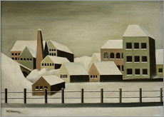Wall sticker  Factory landscape in the snow - Carl Grossberg