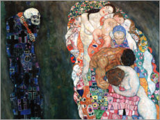 Aluminium print  Death and life - Gustav Klimt