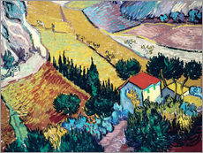 Gallery print  Landscape with House and Ploughman - Vincent van Gogh