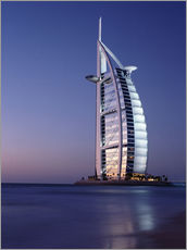 Wall sticker  The Burj Al-Arab at dusk - Ian Cuming