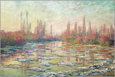 Gallery print  The Thaw on the Seine - Claude Monet