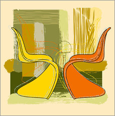 Wall sticker panton chair 01