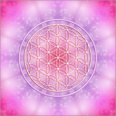 Wall sticker  Flower of life - unconditional love - Dolphins DreamDesign