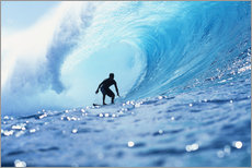 Wall sticker  Surfer in the pipeline Barrel - Vince Cavataio