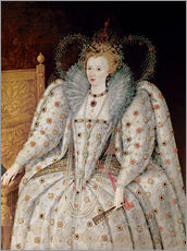 Gallery print  Queen Elizabeth I of England and Ireland - English School