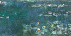 Wall sticker  Water Lilies, Green Reflections 2 - Claude Monet