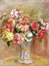 Wall sticker  Roses in a Sèvres vase - Pierre-Auguste Renoir