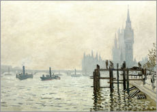 Wall sticker  The Thames below Westminster - Claude Monet