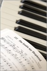 Wall sticker  Sheet music on piano keyboard - John Short