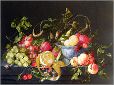 Gallery print  A still life with fruits - Cornelis de Heem