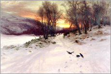 Wall sticker  When the West with Evening Glows - Joseph Farquharson