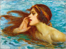 Gallery print  A little sea maiden - William Henry Margetson