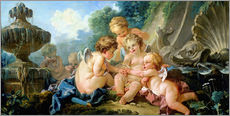 Gallery print  Angels in the Game - François Boucher