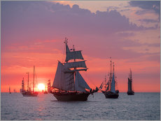 Wall sticker  Sailing ships on the Baltic Sea in the evening - Rico Ködder
