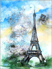 Wall sticker  Memory of Paris - Jitka Krause