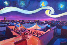 Wall sticker  Starry Night in Marrakech   Van Gogh Inspirations on Fna Market Place in Morocco - M. Bleichner