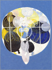 Wood print  The Large Figure Paintings, No. 5 - Hilma af Klint