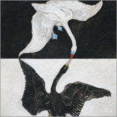 Wall sticker  The Swan, No. 1 - Hilma af Klint