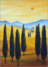 Wall sticker  Longing for Tuscany - Christine Huwer