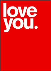 Wall sticker  Love you. - THE USUAL DESIGNERS